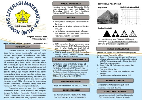 Leaflet KLM 2014 di Unsyiah
