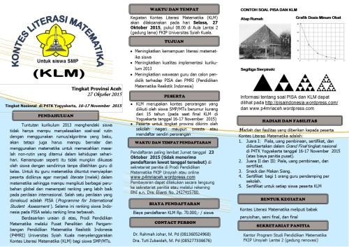 Leaflet KLM 2015 di Unsyiah edit